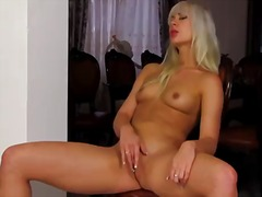 Tracy delicious dreaming about real sex with real man with dildo in her fuck hole