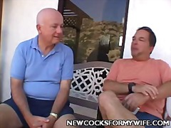 Horny wife balled in front of her husband this video is presented by new cocks for my wife