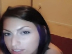 Darksome brown wife gets fucked and cummed in face aperture