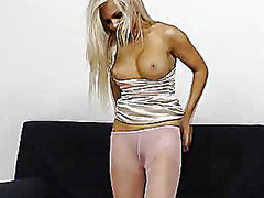 pantyhose, babe, nylons, legs, masturbation, fetish, feet, panties, blonde, tight
