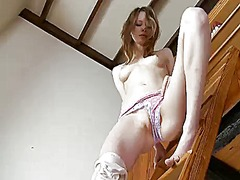 Sex obsessed chick gloria is in the mood for pussy dildoing