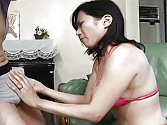 seduced, milf, asian, mom, big, tits