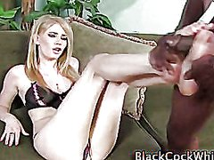 threesome, masturbation, footjob, interracial