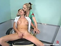 Audrey leigh has humiliated and shaged by blonde nurse chanta-rose
