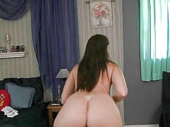 Shaking my bum while stripping